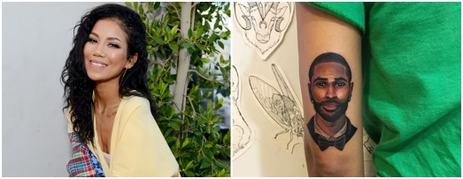 Image: Jhene Aiko Gets Beau Big Sean's Face Tatted On Her Arm