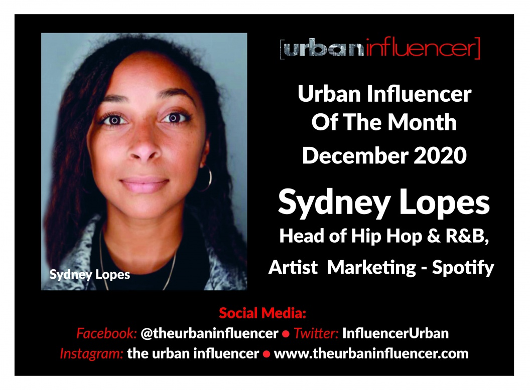 Image: Sydney Lopes - Urban Influencer of the month - Spotify